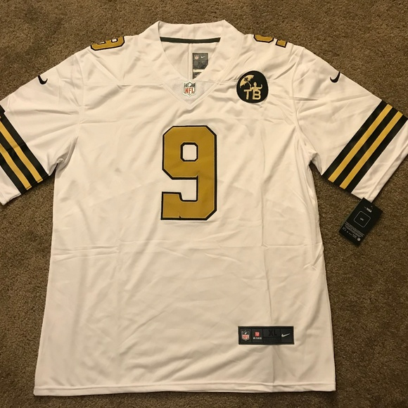 uk availability 47351 d7bc4 Drew Brees New Orleans Saints Rush Jersey NWT